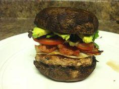 Portobello Mushroom Burger (PMB)  Portobello Mushrooms, Tomato, Spinach, Avocado, Grilled Eggplant, Halloumi cheese and anything else