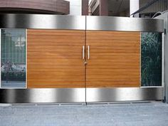 34 Amazing Steel Gate Design Ideas Match With Any Home Design - The purpose of home security gates is simple. They increase the level of security of the property and help to keep the family safe. They can enhance t. Simple Gate Designs, Modern Main Gate Designs, Iron Main Gate Design, Home Gate Design, Gate Wall Design, Grill Gate Design, House Main Gates Design, Steel Gate Design, Main Door Design
