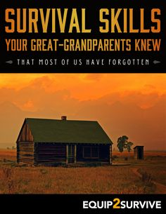 "Download your very own FREE copy of ""Survival Skills Your Great-Grandparents Knew"" today!! FREE for a limited time!!"