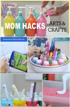 Tired of the messes that crafting with kids cause? These mom hacks will change the way you craft forever! Craft organization, hacks, and other useful crafting tricks. Kids Crafts, Toddler Crafts, Projects For Kids, Diy For Kids, Diy And Crafts, Craft Projects, Arts And Crafts, Toddler Games, Craft Ideas