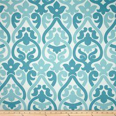Fabric shower curtain Alex coastal blue by KirtamHomeCollection