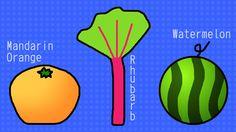 Mandarin Orange, Rhubarb, Watermelon / #Food #Fruit #Vegetable #HD #FWXGA