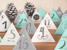 Free Printable DIY Adventskalender 2016