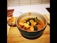 Zuppa di crema di lenticchie rosse e verdure - YouTube Thai Red Curry, Ethnic Recipes, Kitchen, Youtube, Food, Cream, Cooking, Kitchens, Essen