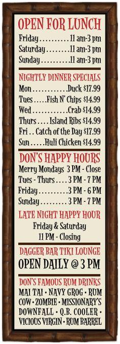 Don the Beachcomber restaurant in Huntington Beach