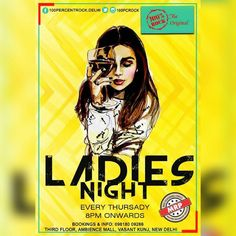 All the Ladies in the town!! Dress up and get ready for a marvelous night with your girl squad at 100% Rock   For reservations: 09818009286 #DrinksAtMRP #100PercentRock #RockNight #FunWithFriends #VasantKunj #AmbianceMall #LadiesNight #girlsgang #squdgoals #dresstokill #highheels #enjoy #special #offer #like4like
