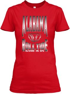 3ae09edd Alabama Football Championship T Shirt Red T-Shirt Front Football Fans, Alabama  Football,