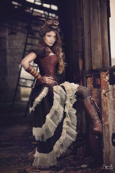 Steampunk Series Pt. 1: The Aviatrix I by IreneAstral