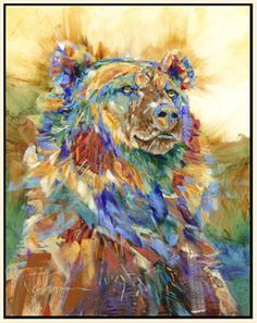 bear.   I just LOVE this artistic work.  Just beautiful placement of pastels mixed with bolder hues.   Sweet.
