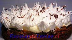 Receta de Torta brownie con dulce de leche y merengue