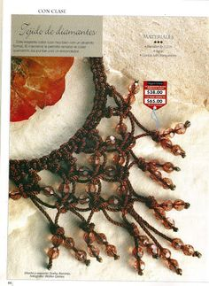 Macramê necklace - instruction with pictures- really would like to make this one love it! must try! #ecrafty