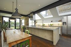 contemporary london flat roof extension with crittall windows