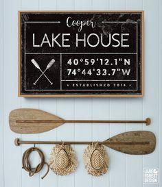 Vintage Nautical Decor, Western Decor, Boho Decor, Nautical Theme, Lake House Signs, Lake Signs, River House Decor, Cottage Signs, House Name Signs