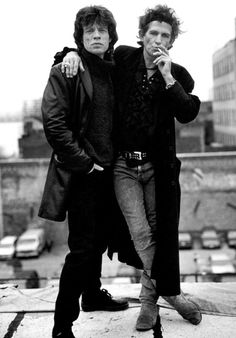 Mick Jagger and Keith Richards of the Rolling Stones, 1994 The Rolling Stones, Charlie Watts, Pop Rock, Rockn Roll, Music Icon, Icon Icon, Famous Faces, Bowie, Hard Rock