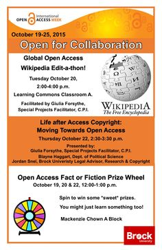 Open Access Week Events October 19-25, 2015