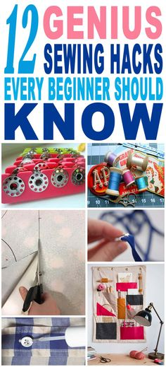 These are the BEST sewing hacks for beginners!! Looking forward to trying these amazing sewing tricks and tips. Pinning for sure!!