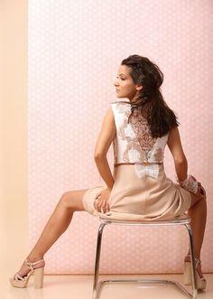 Beauty in each detail... SUMMER 17 | YOKKO #lace #veil #bow #organza #beige #dress #beauty #detail #fashion #women #summer17 #