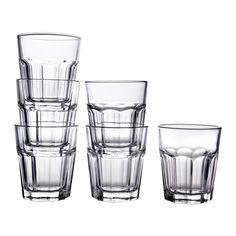 IKEA - POKAL, Glas, Aus gehärtetem Glas, stoßfest und haltbar.
