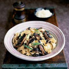 Tagliatelle with field mushrooms, lemon and tarragon Recipe | delicious. Magazine free recipes