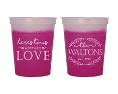 Fun Wedding Cups Rustic Wedding Favors Color Changing Cups Custom Drink Cups Fun Cups Party Cups Wedding Cups Custom Cups 1393 by SipHipHooray