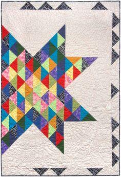 Autumn quilt. Made with Kona Cotton and Blueprint Basics. Designed by Valori Wells. Pattern is FREE through Robert Kaufman Fabrics.