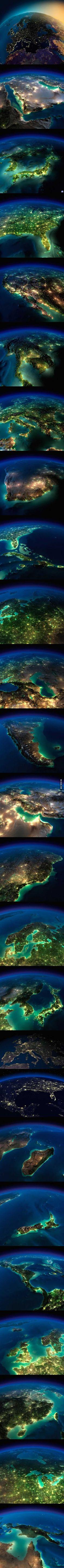 Die #Erde in der #Nacht.  #Natur #Landschaft