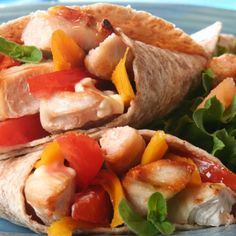 An Easy and delicious recipe for chicken wraps. Great served with a ceasar salad.