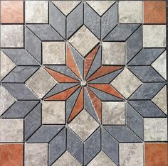 "22 1/4"" Tile Medallion accent - Daltile Continental Slate tile, floor or wall #Daltile"