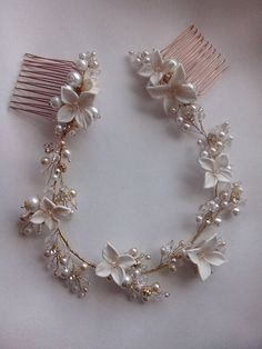 Украшение для волос Hair Jewelry, Bridal Jewelry, Beaded Jewelry, Wedding Hair Pins, Hair Decorations, Hair Ornaments, Wedding Hair Accessories, Bridal Headpieces, Flowers In Hair