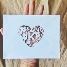 Monogrammed Cut Out Card