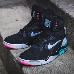new style 22175 10792 Release Reminder  Nike Air Command Force in Black - Wolf Grey - Hyper Jade  - Hyper Pink