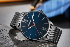 The Curren Blue. Tags: Simple Watch for men Minimalist watch Accessories Simple Watches, Watches For Men, Watch Accessories, Minimalist, Lifestyle, Tags, Colors, Blue, Gents Watches