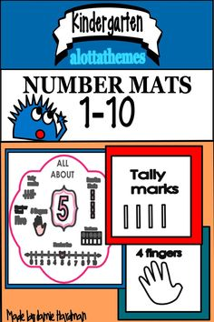 These printables are great for math centers to show ten frames,tally marks and our hands. The posters are great to display around the room! They are so bright and inviting! Subtraction Kindergarten, Number Sense Kindergarten, Kindergarten Themes, Kindergarten Learning, Learning Numbers, Math Numbers, Division Math Games, Early Childhood Activities, Tally Marks