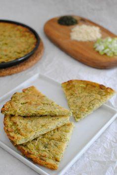 Farinata con cipolle e alghe Nori