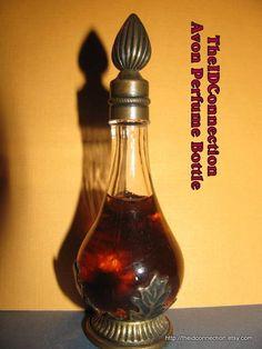Perfume Bottle Vintage Ornate Perfume Bottle by TheIDconnection, $48.00