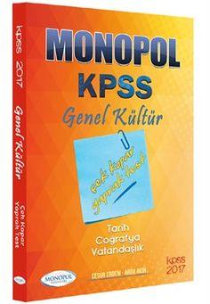 2017 KPSS Genel Kültür Çek Kopar Yaprak Test Monopol Yayınları