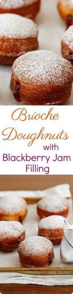 Brioche Doughnuts with Blackberry Jam Filling recipe | Red Star Yeast
