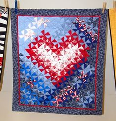 Red- White- and Blue Heart Quilts