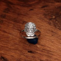 Sugar skull ring from Biological Jewels