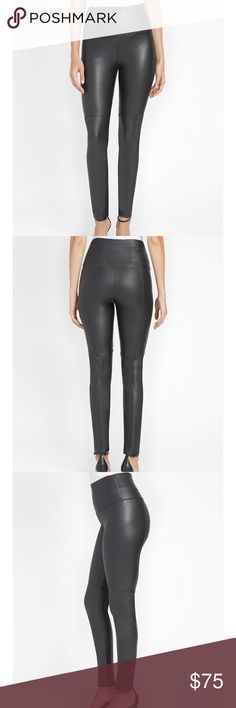 Vegan Leather Leggings NWT Lysse Keeley Style Vegan Leather leggings in expresso. Photos of leggings in black are the style of leggings and the photo with them in expresso is the color but not the style. These leggings feature a comfortable 4-way stretch. Super smooth, hourglass shaping. I have others in this brand and they are great! Lysse Pants Leggings