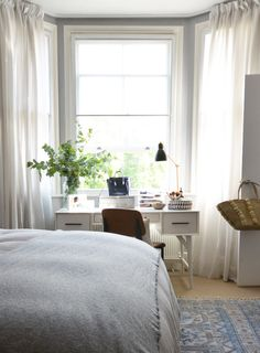 A London Flat Filled with Light | Design*Sponge (IKEA curtains)