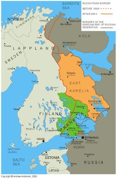 Historical maps rodolphepilaertroots visit finland maps russo finish border before and after world war 2 gumiabroncs Gallery