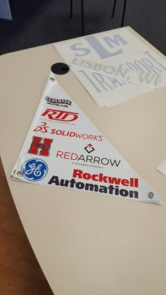 FASTSIGNS of Menomonee Falls made small triangle banner with grommets. Check us out at fastsigns.com/452, call us at #262-253-0799, email us at 452@fastsigns.com, or come visit us at W173N9170 St. Francis Drive, Suite 1, Menomonee Falls, WI 53051