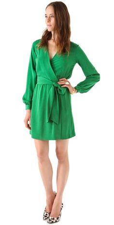 DVF emerald green