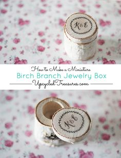 How to Make a Birch Branch Jewelry Box - UpcycledTreasures.com