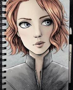 Black Widow (colored) by natalico