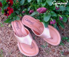 As rasteirinhas da Campesí deixam seus pés confortáveis, leves e livres para curtir o calorzinho que está chegando!