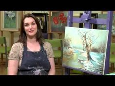 Snow's First Fall - Winter Snow Oil Painting for beginners - Full step by step - PAINT WITH MAZ - YouTube