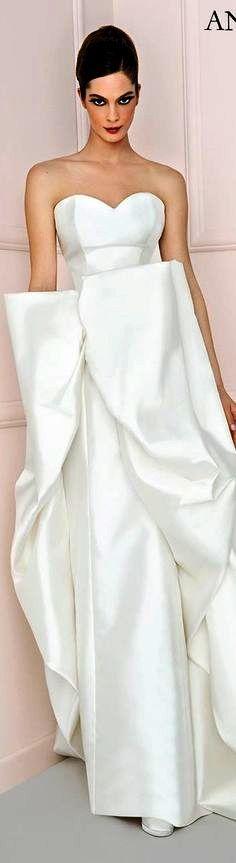 Antonio Riva 2016 bridal dress chic strapless sweetheart neckline sheath wedding dress structured over skirt iole