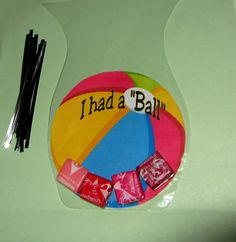 BEACH BALL, Birthday favors with rounded bags!  Pool party idea.